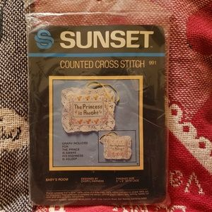 Vintage Sunset Counted Cross Stitch Kit